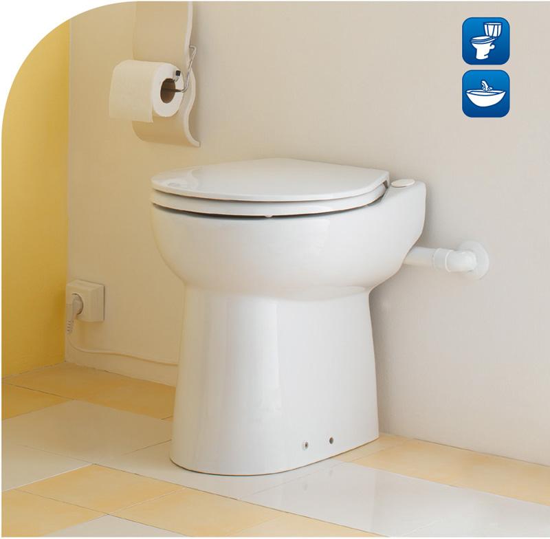 Sewage lifting seat toilet (type A)